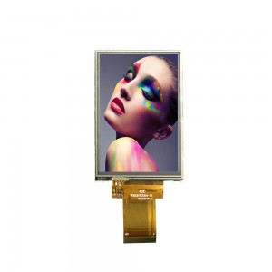 3.5 inch  320*480 RGB 18bit small screen flexible bus advertising custom lcd display panels with resistive touch panel