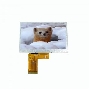 4.3 inch 480×272 RGB+SPI interface transparent graphic small smart watch tft lcd module