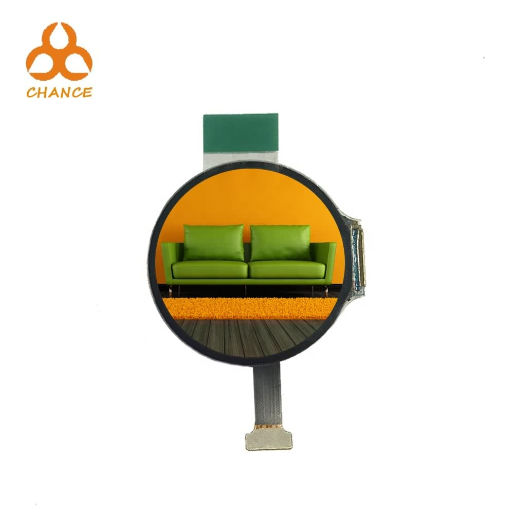 """Ultra thin 1.2"""" 390*390 MIPI+SPI graphic high resolution round OLED display"""