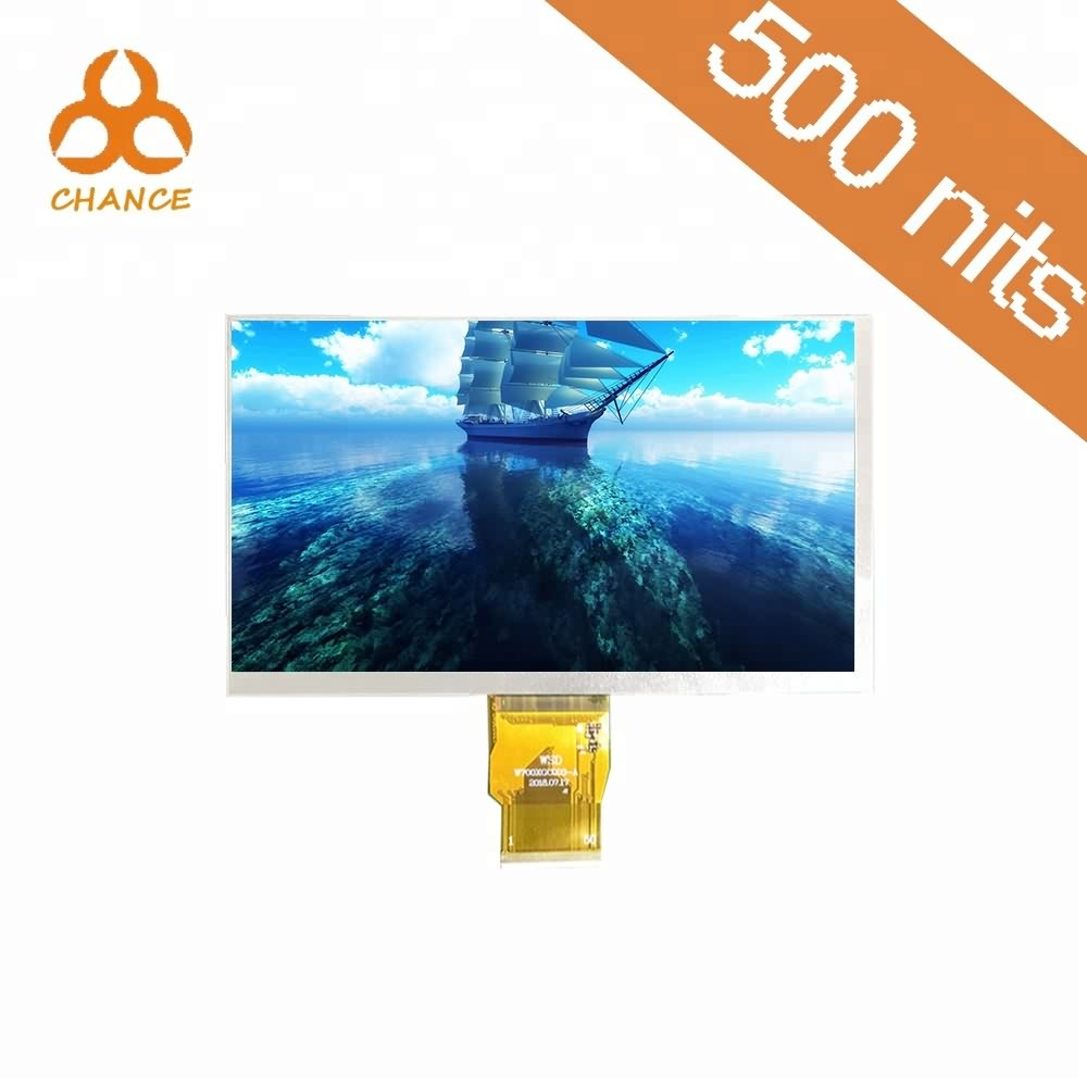 7.0 inch 1024*600 RGB TTL interface 400nits flexible transparent video ips tft lcd display panel replacement