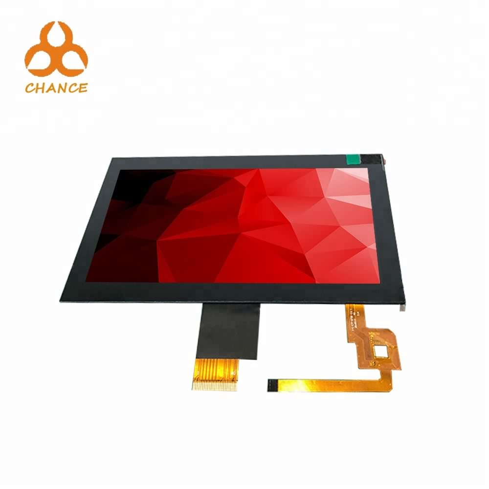 7.0 inch 1024*600 MIPI LVDS interface 400nits transparent high resolution graphic ips tft lcd module with capacitive touch panel