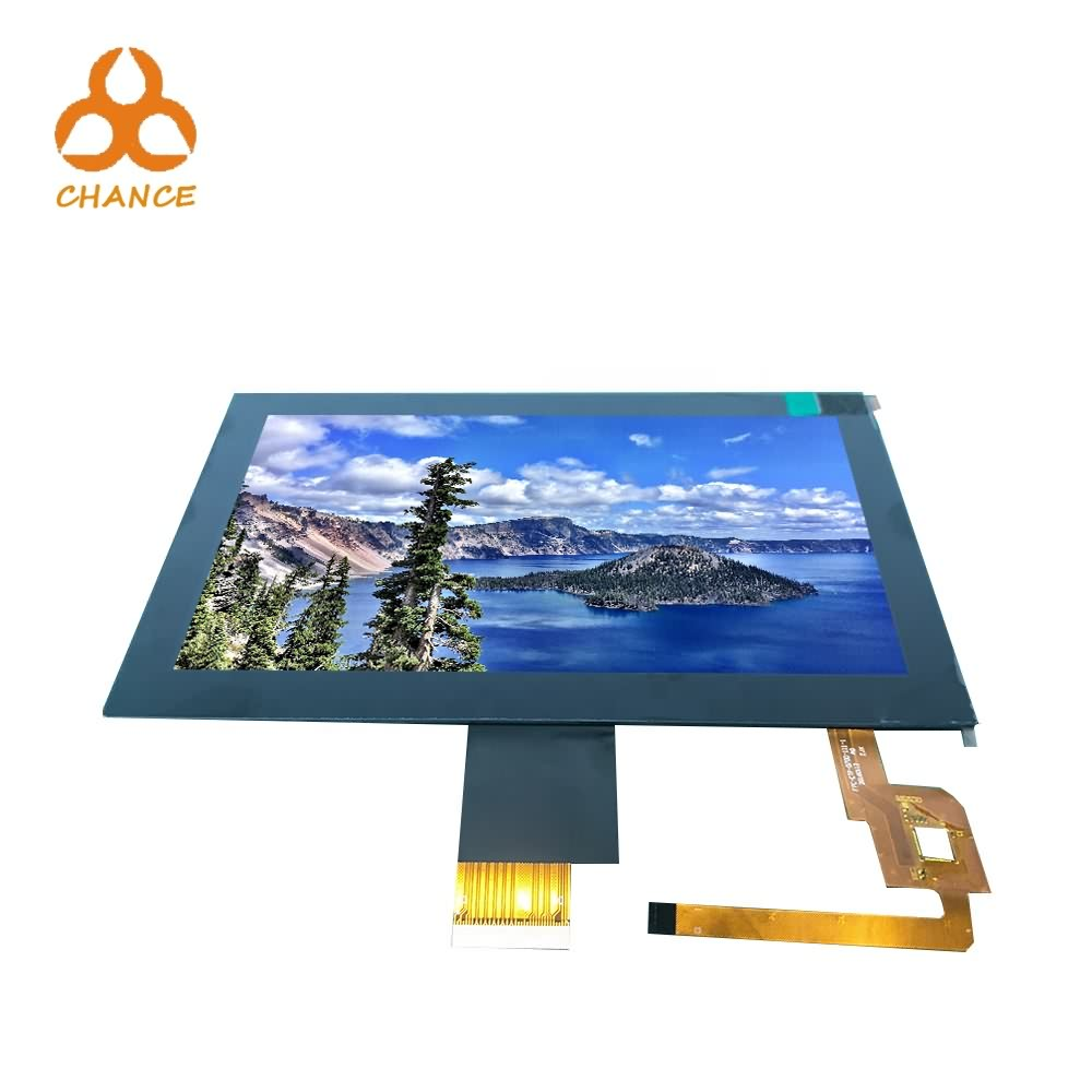 7.0 inch 1024*600 MIPI LVDS interface 400nits transparent high resolution touch lcd display