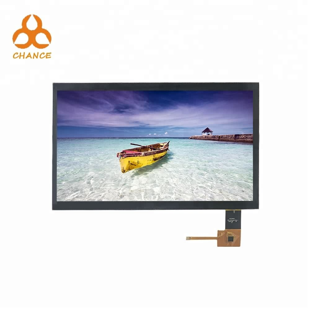 10.1 inch 1024*600 MIPI LVDS interface transparent graphic high resolution ips tft lcd module with capacitive touch panel