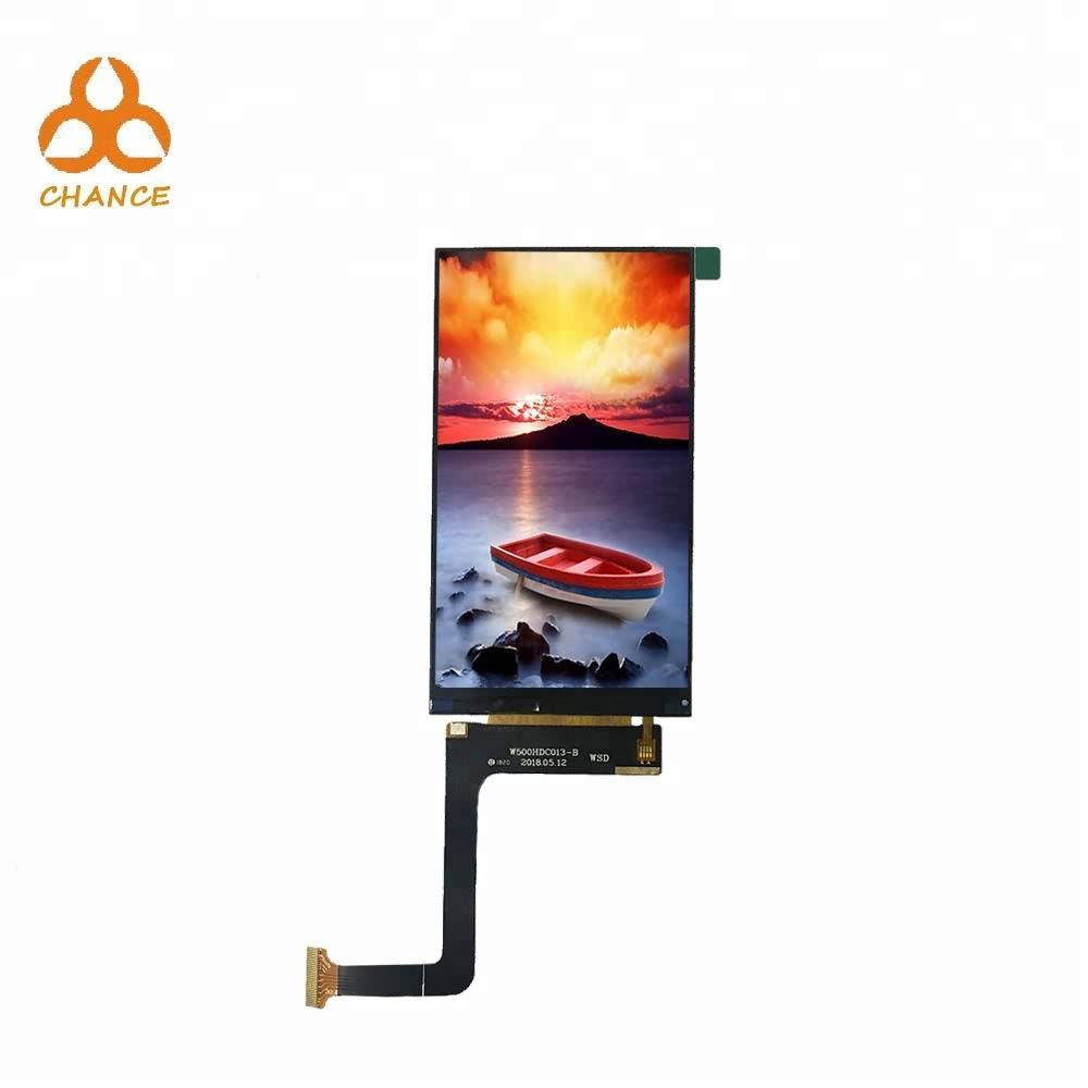 5.0 inch 720*1280 MIPI interface IPS full viewing angle flexible transparent oem tft lcd display