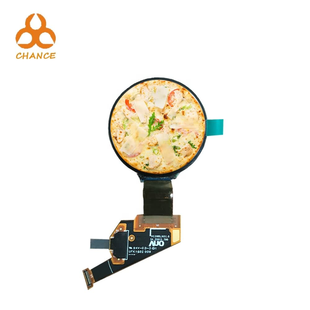 1.39 inch 400*400 MIPI flexible transparent graphic high resolution round OLED display