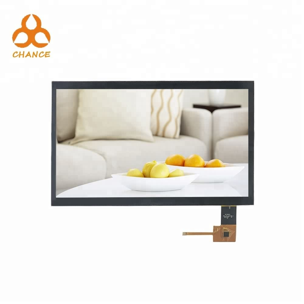 10.1 inch 1024*600 LVDS interface advertising display HMI screen ips tft lcd module with capacitive touch panel
