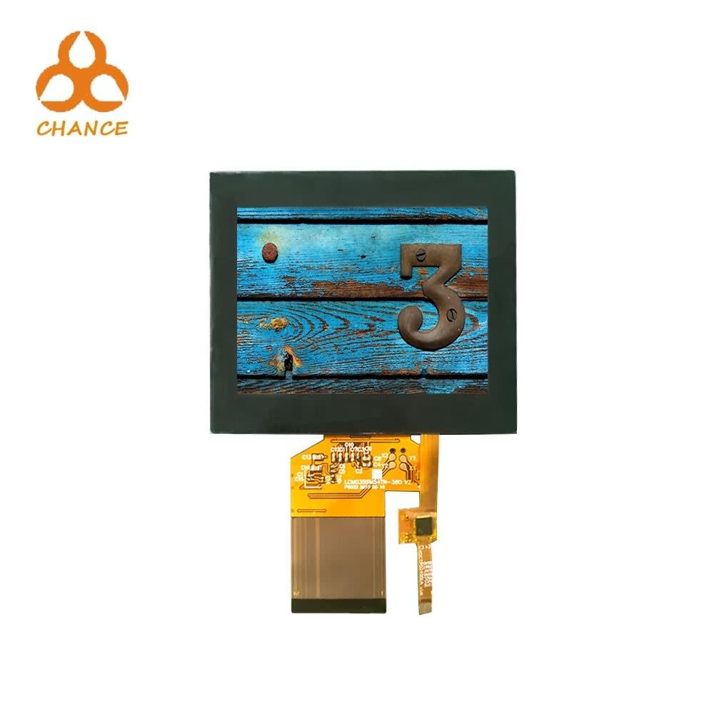 EXW 가격 3.5 인치 TFT LCD 용량 터치 패널 320 * 240 + RGB SPI 인터페이스 자동차 라디오 VR IPS TFT LCD 스크린