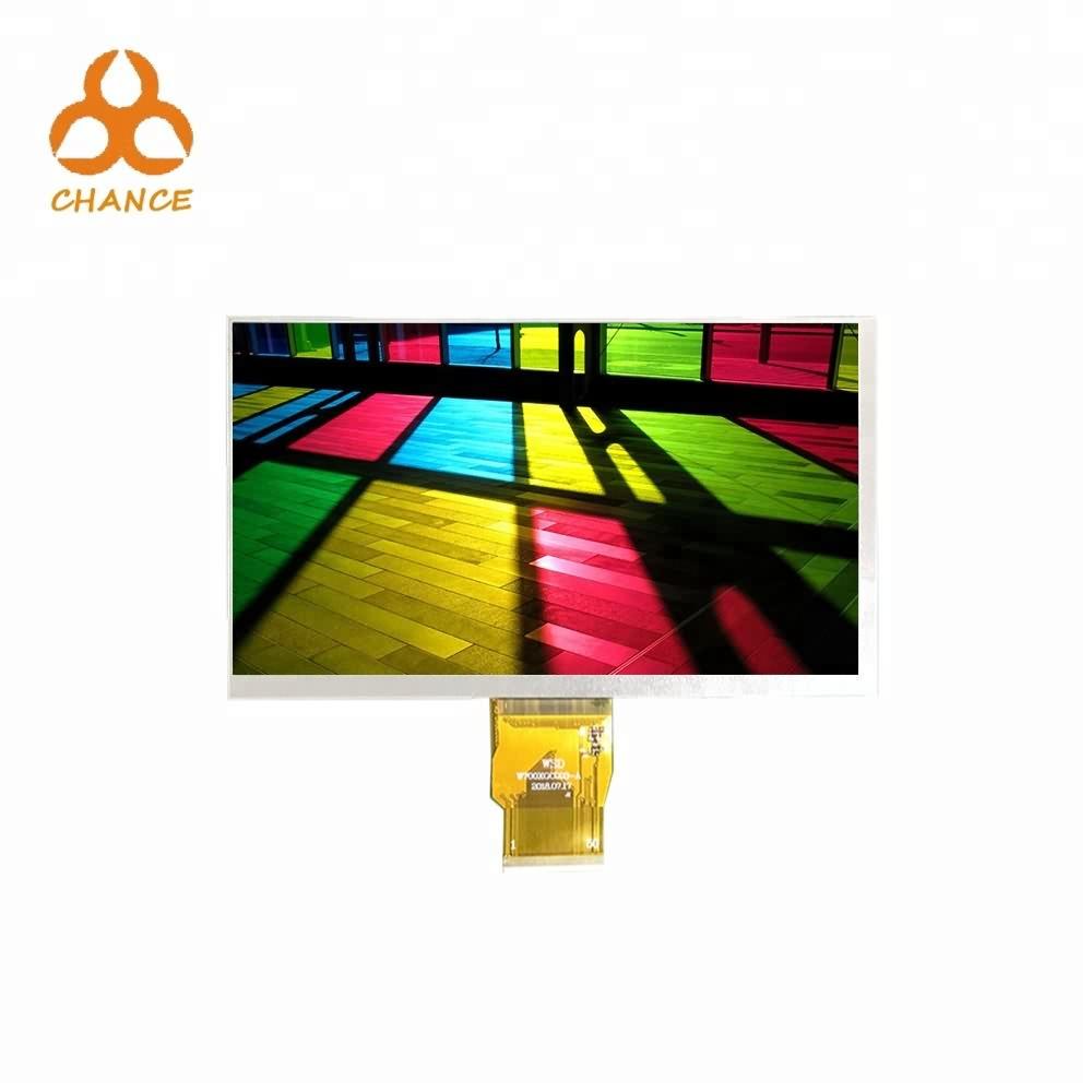 7.0 polegadas de interface 1024 * 600 LVDS 400nits transparente oem visor LCD TFT flexível
