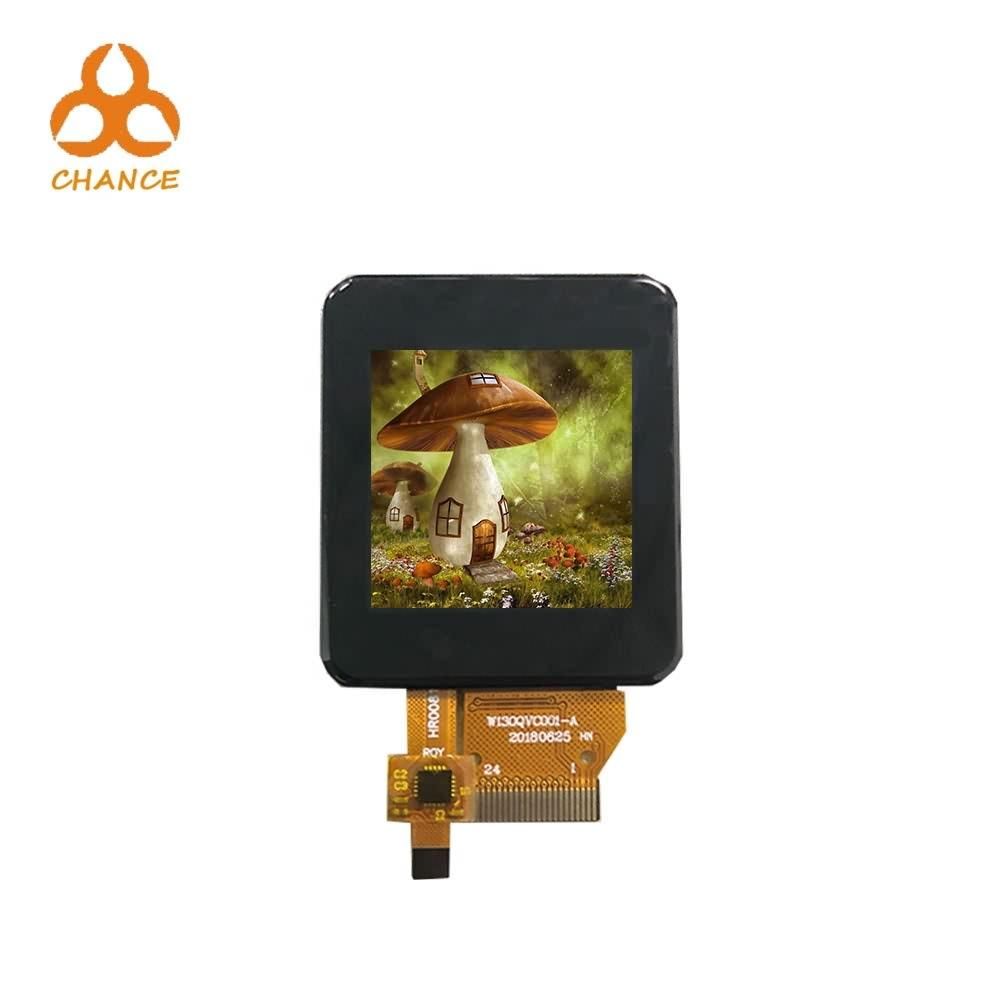 1,3 polegadas 240 * 240 tamanho personalizado pequeno quadrado ips módulo de TFT LCD com painel de toque capacitivo