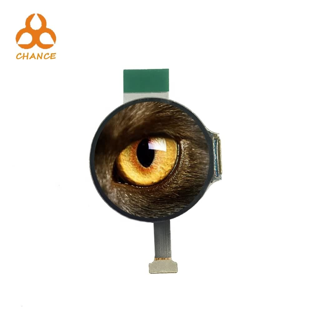 Best price 1.2 inch flexible transparent oem round OLED display 390*390 MIPI+SPI interface