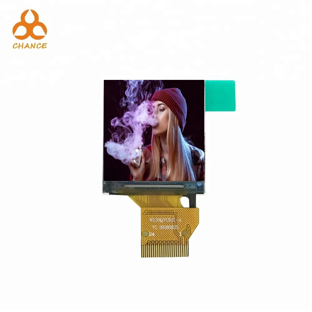 1.3 inch 240*240 MCU interface full viewing angle mini flexible transparent watch tft lcd display panel for E-cigarettes