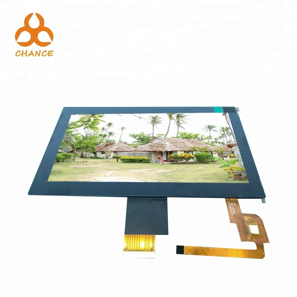 Industrial 1024*600 40pin LVDS Interface 7' lcd display with CTP at low MOQ