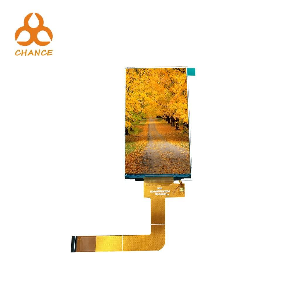 4.5 inch 480(RGB)*854 MIPI Interface  350 Luminance 24 pin  Mobile LCD display