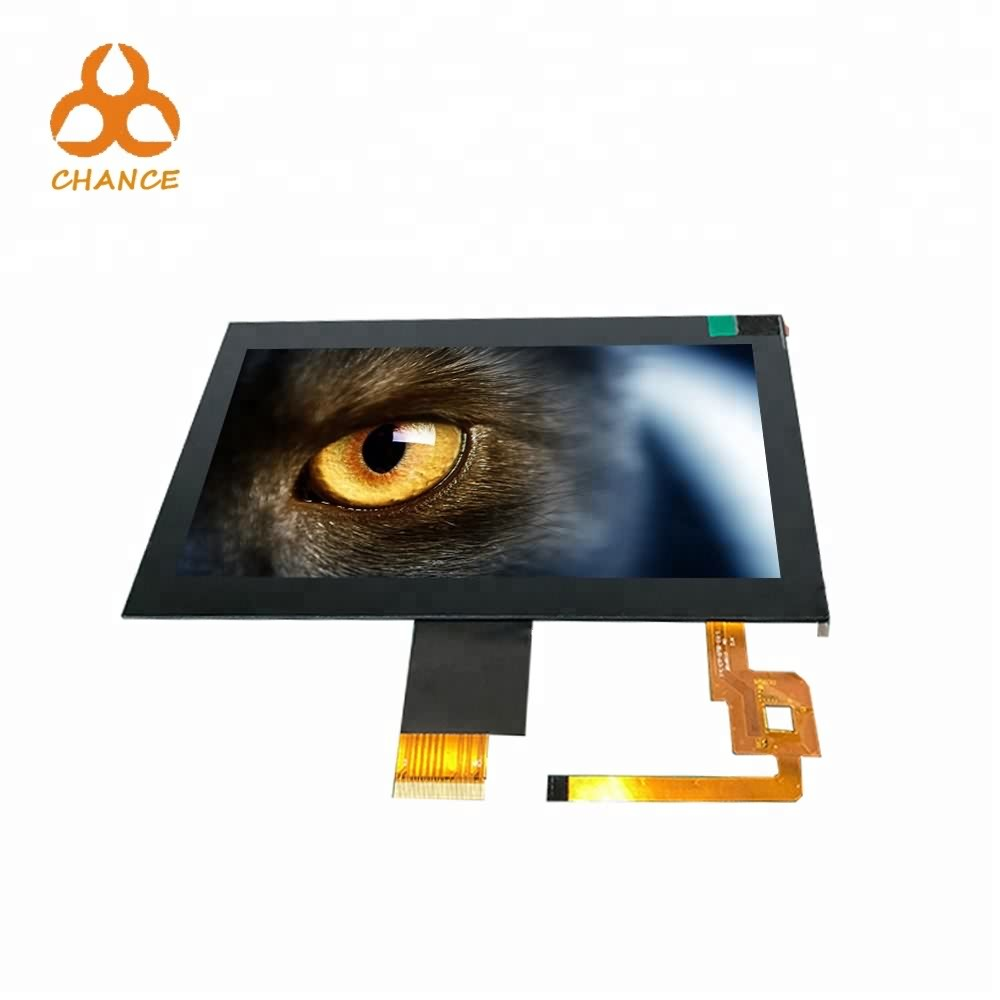 7.0 inch 1024*600 LVDS interface 400nits flexible bus advertising ips tft lcd display panels with capacitive touch panel