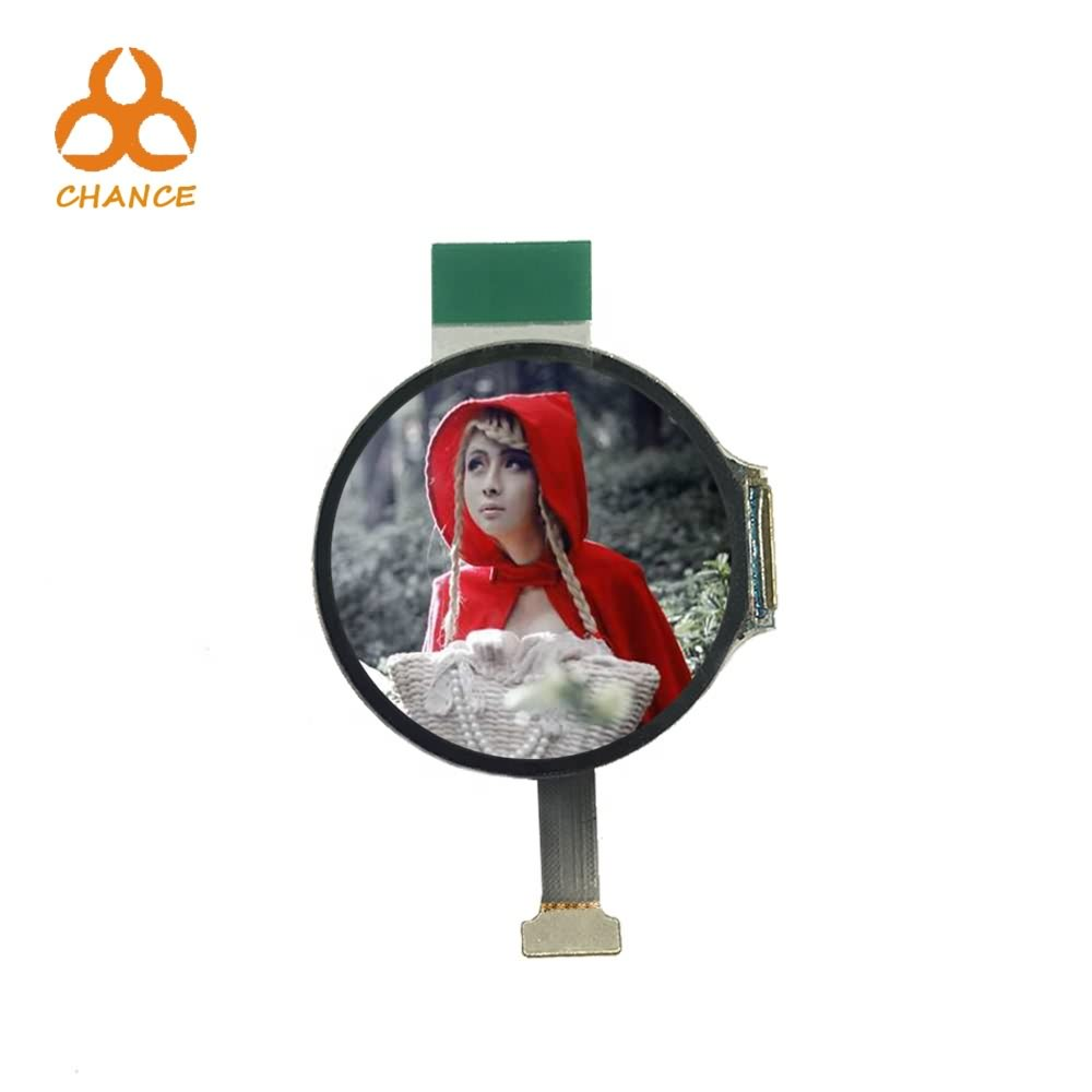 390*390 MIPI+SPI interface 1.2 inch circular OLED  wearable smart watch programmable display